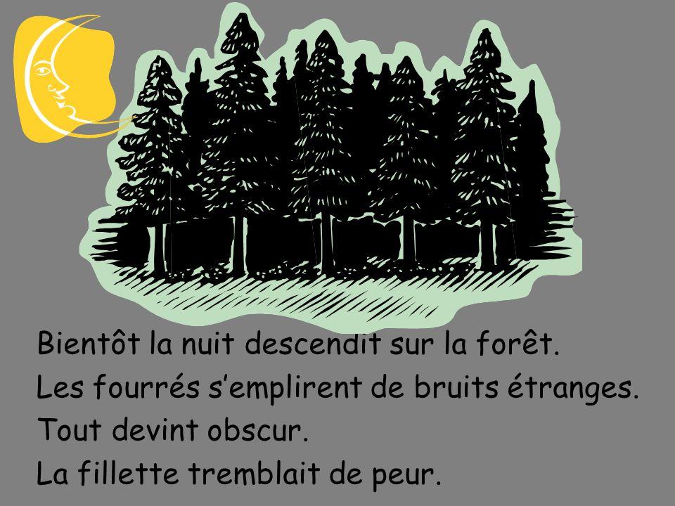 Un jour quelles cueillaient des morelles dans le bois, les deux méchantes filles senfuirent en abandonnant leur petite sœur.