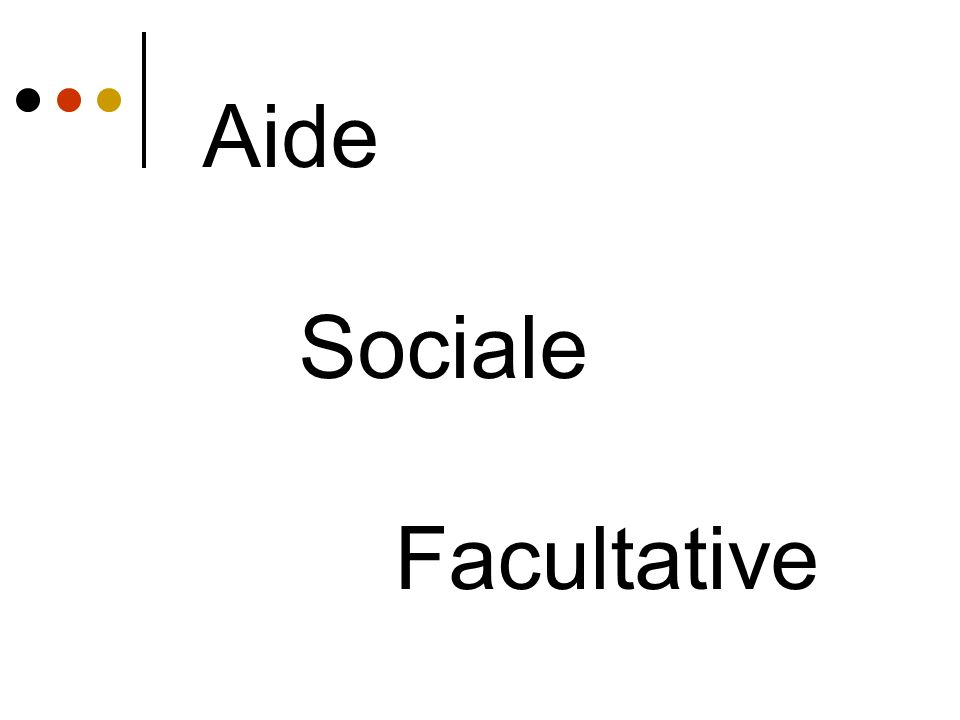 Aide Sociale Facultative