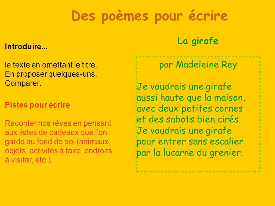 par Daniel Thibon (Ma langue au chat.Comptines.) Loiseau Quitte La branche.