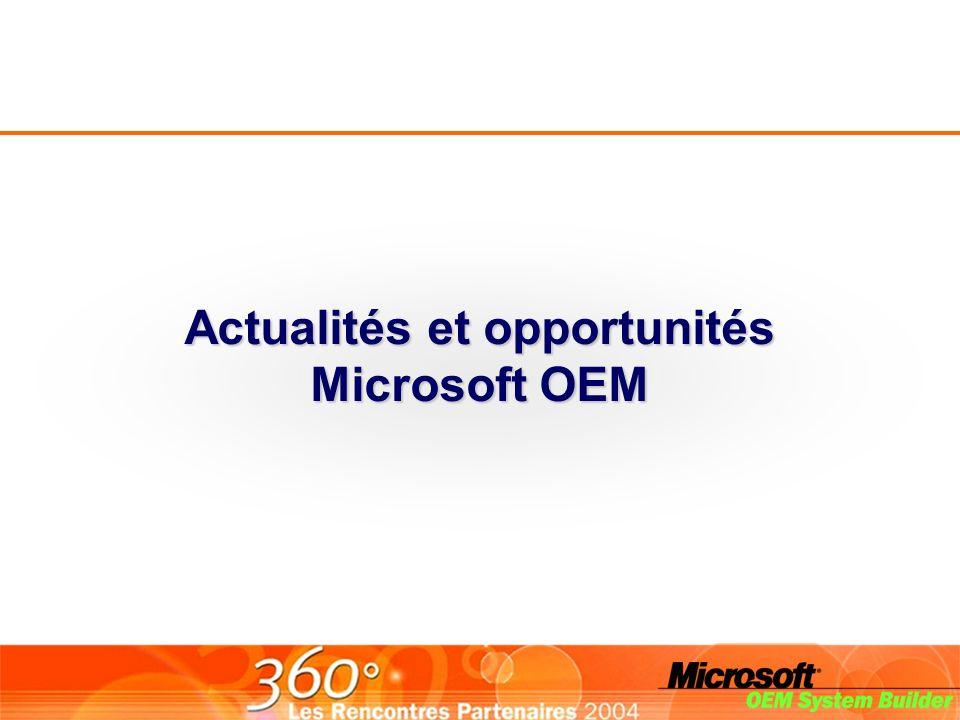Actualités et opportunités Microsoft OEM