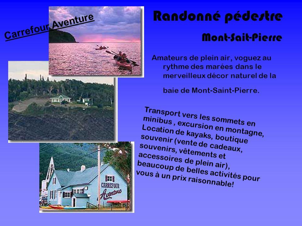 Randonné pédestre Amateurs de plein air, voguez au rythme des marées dans le merveilleux décor naturel de la baie de Mont-Saint-Pierre. Mont-Sait-Pier
