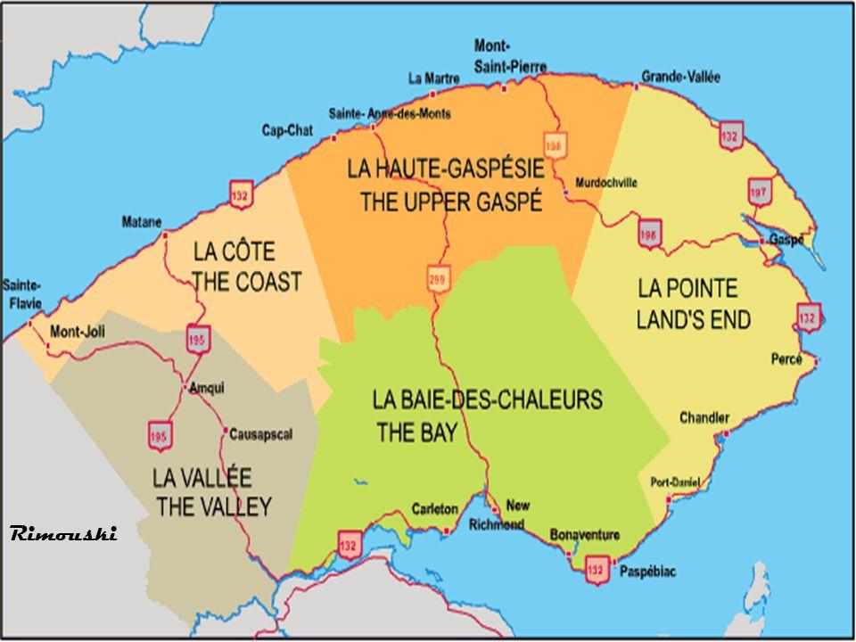 Cette région (Gaspésie) est une péninsule qui se trouve à lextrême Est-du-Québec, juste au nord du Nouveau- Brunswick.