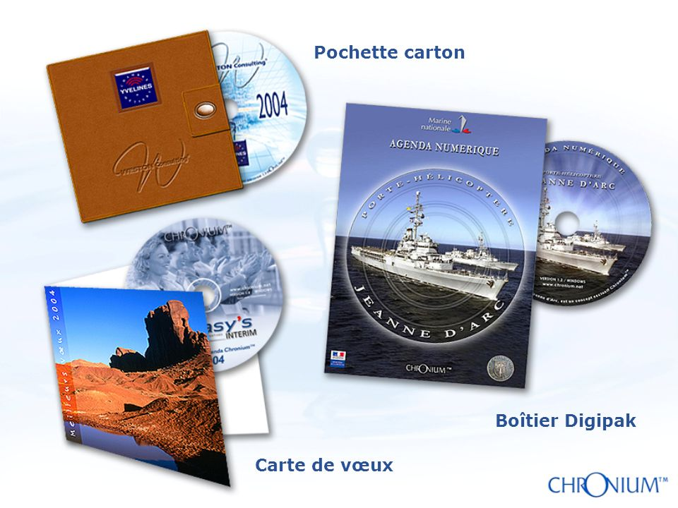 Boîtier Digipak Carte de vœux Pochette carton