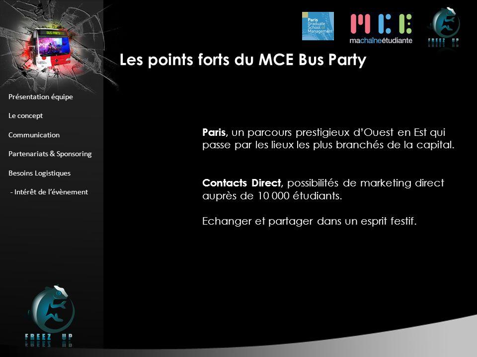 Présentation équipe Le concept Communication Partenariats & Sponsoring Besoins Logistiques - Intérêt de lévènement Paris, un parcours prestigieux dOue