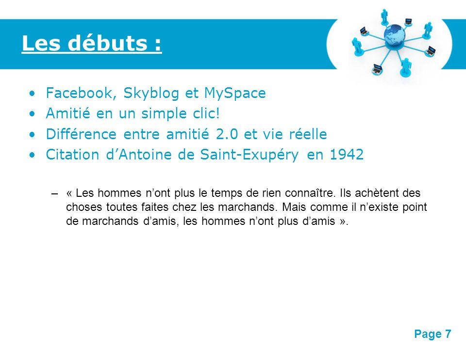 Free Powerpoint Templates Page 8 Les marchands damis : Facebook, MySpace, etc.