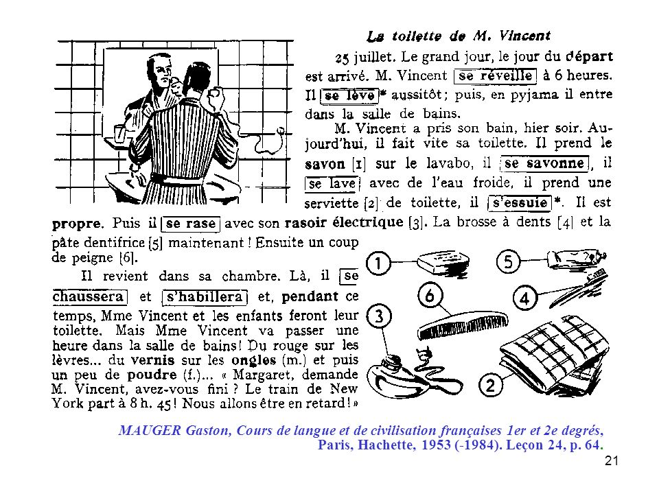 22 Titres possibles dunités didactiques : 1.« La toilette de Mr Vincent » 2.