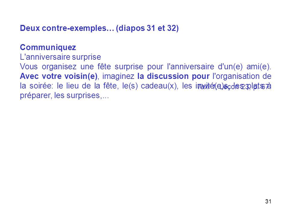 32 C. Bergeron, M. Albero et M. Bidault: Tandem, niveau 2, Didier, 2003, page 23.