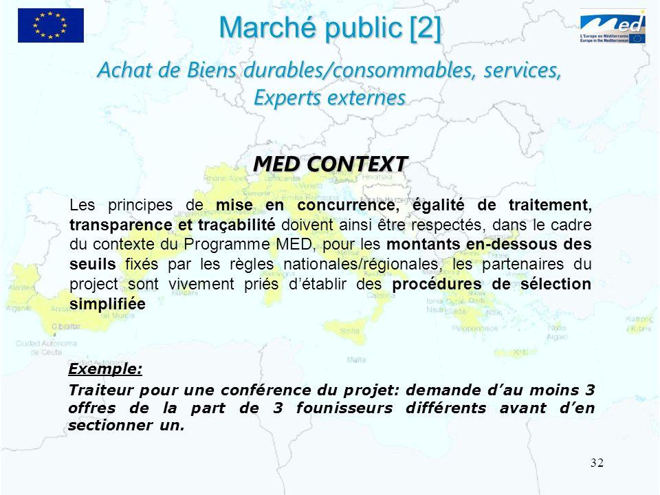 Marché public [2] Les principes de mise en concurrence, égalité de traitement, transparence et traçabilité doivent ainsi être respectés, dans le cadre