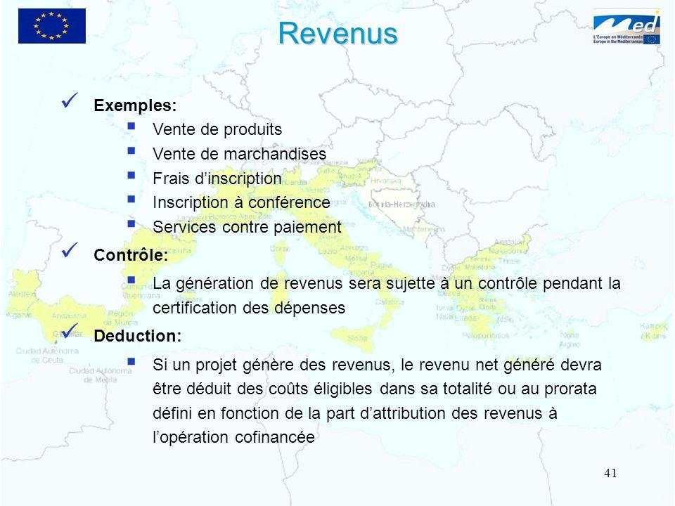 Exemples: Vente de produits Vente de marchandises Frais dinscription Inscription à conférence Services contre paiement Contrôle: La génération de reve