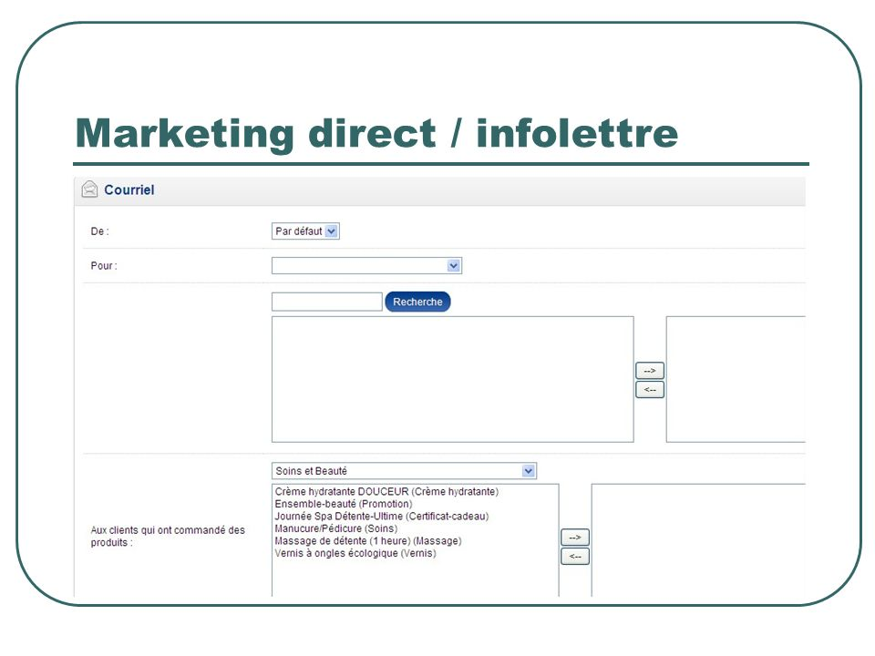 Marketing direct / infolettre