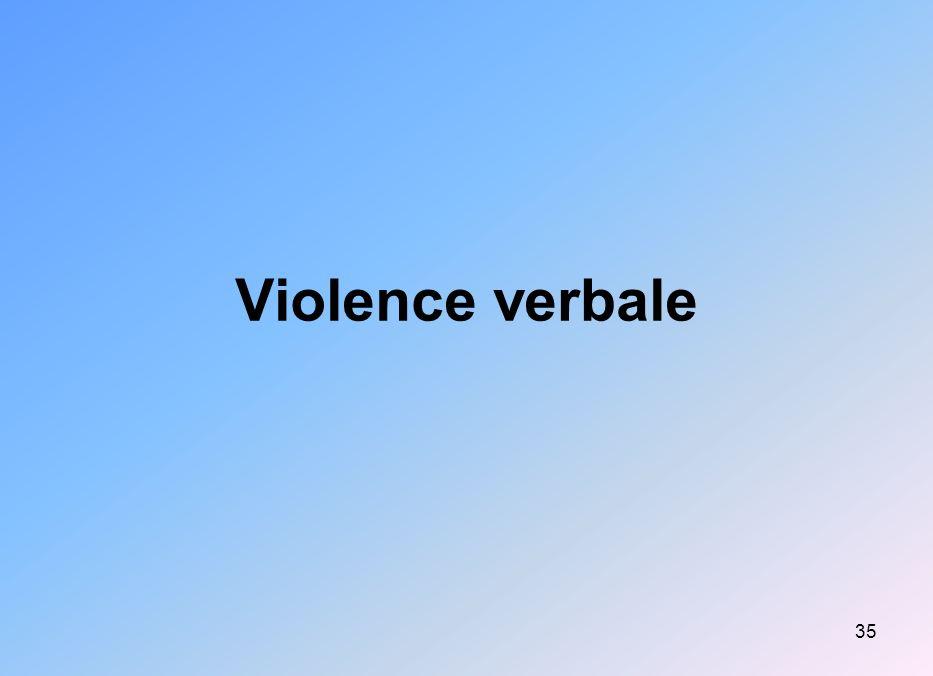 35 Violence verbale