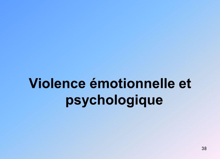 38 Violence émotionnelle et psychologique