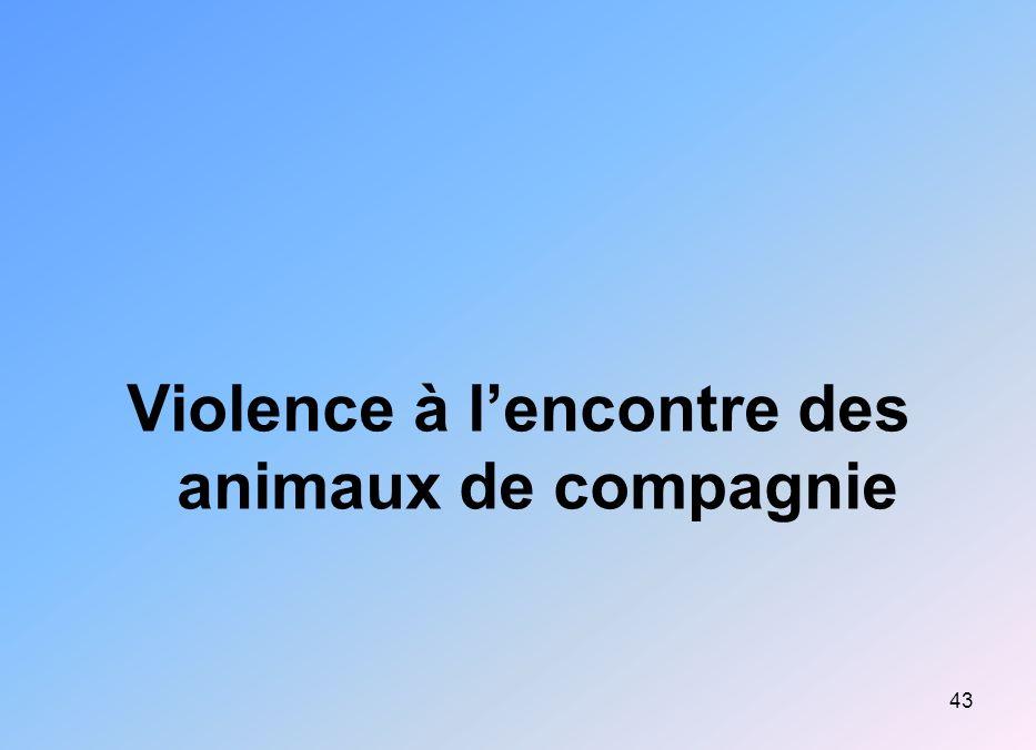 43 Violence à lencontre des animaux de compagnie