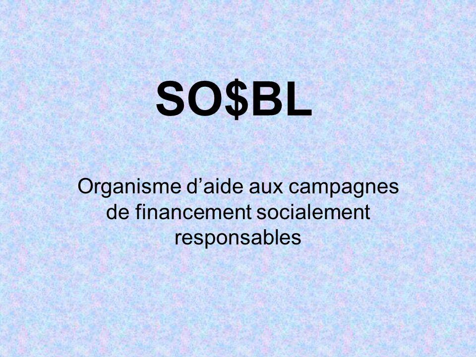 SO$BL Organisme daide aux campagnes de financement socialement responsables