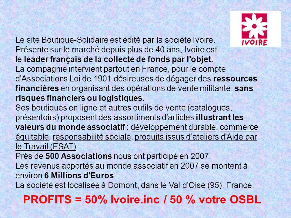 Le site Boutique-Solidaire est édité par la société Ivoire.