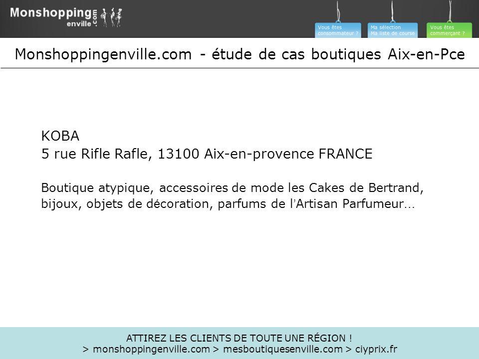 KOBA 5 rue Rifle Rafle, 13100 Aix-en-provence FRANCE Boutique atypique, accessoires de mode les Cakes de Bertrand, bijoux, objets de d é coration, par