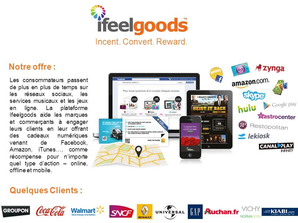 Notre offre : Les consommateurs passent de plus en plus de temps sur les réseaux sociaux, les services musicaux et les jeux en ligne. La plateforme If