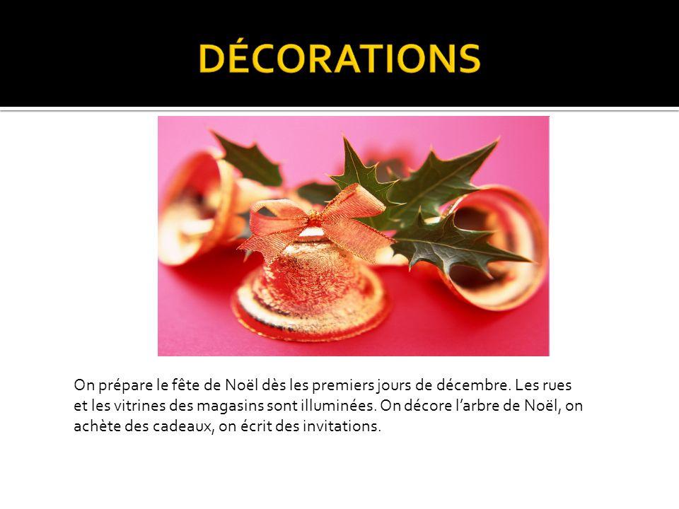 En France il y a deux fêtes très aimées de tous les Français: Noël et le Nouvel An. Cest la période des cadeaux, de bons repas, des chocolats.