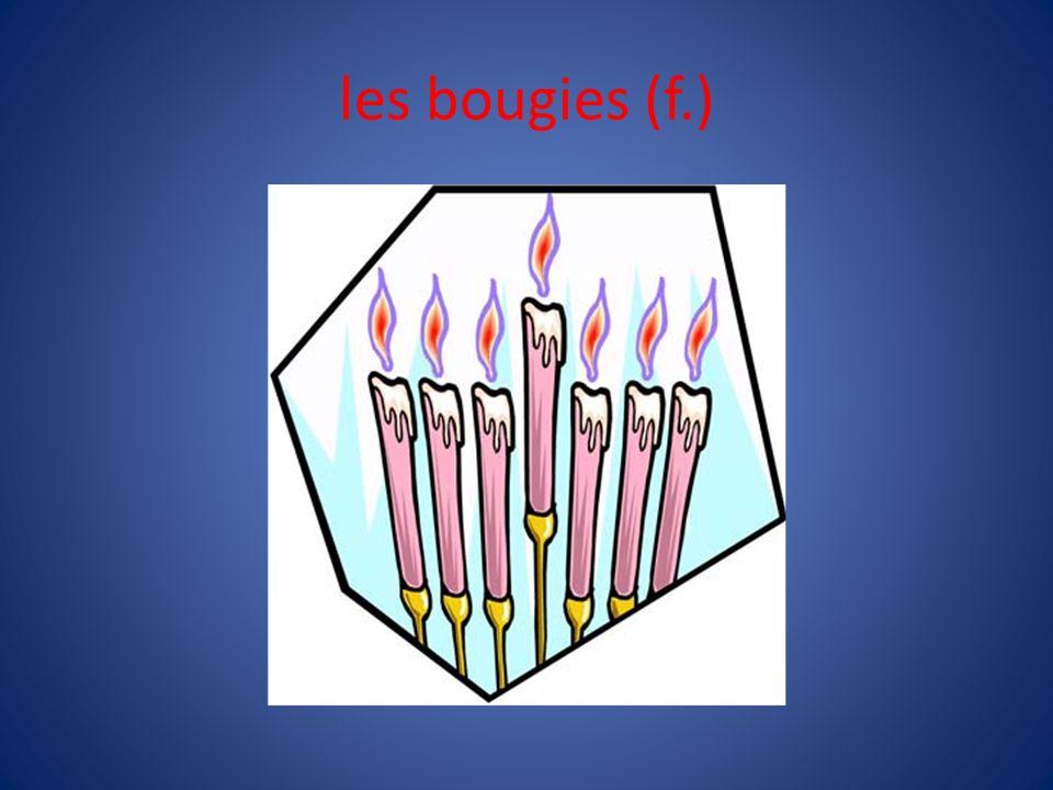les bougies (f.)