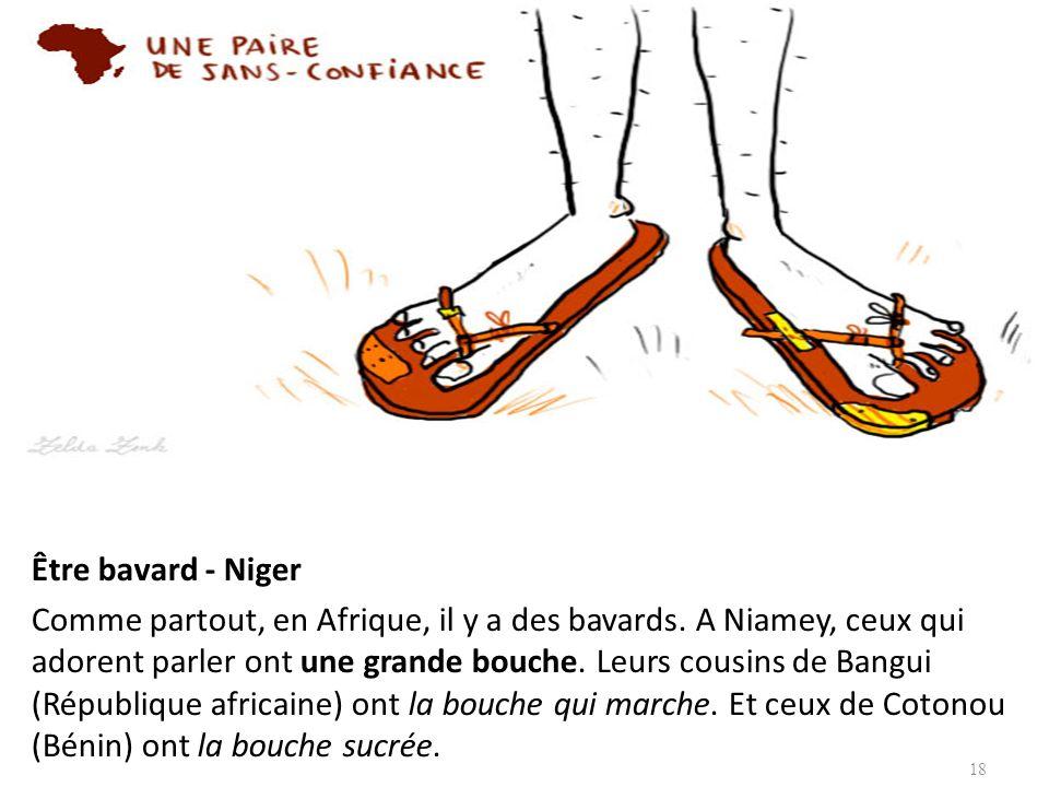 Être bavard - Niger Comme partout, en Afrique, il y a des bavards. A Niamey, ceux qui adorent parler ont une grande bouche. Leurs cousins de Bangui (R