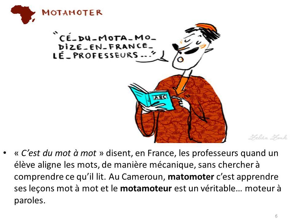 « Cest du mot à mot » disent, en France, les professeurs quand un élève aligne les mots, de manière mécanique, sans chercher à comprendre ce quil lit.