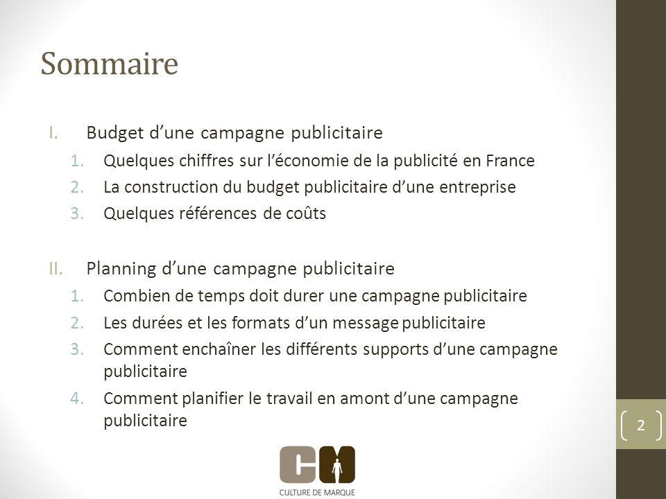 I.Budget dune campagne publicitaire 3