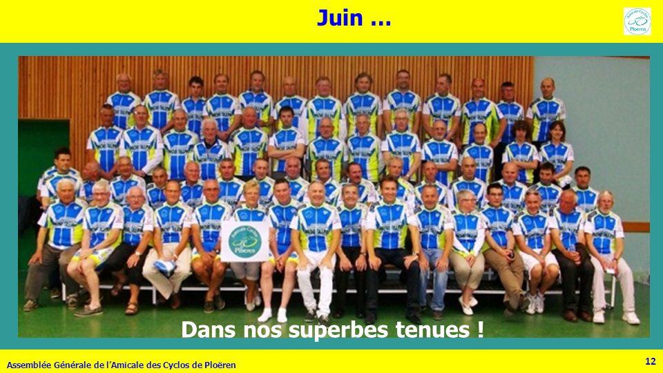 12 Assemblée Générale de lAmicale des Cyclos de Ploëren Juin … 12 Dans nos superbes tenues !