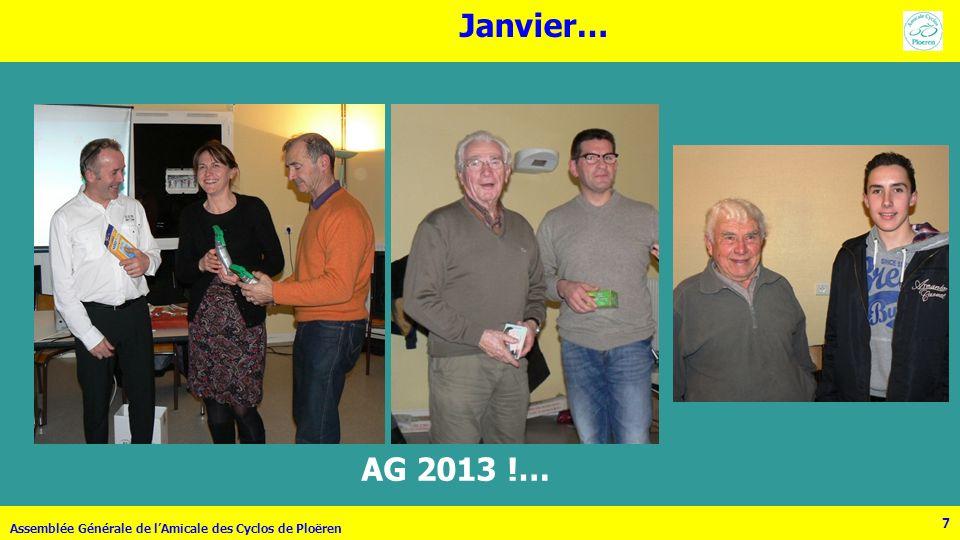 77 Janvier… Assemblée Générale de lAmicale des Cyclos de Ploëren AG 2013 !…