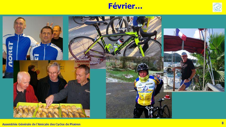 29 Assemblée Générale de lAmicale des Cyclos de Ploëren 29 Décembre … En pleine préparation… BRAVO Thierry !