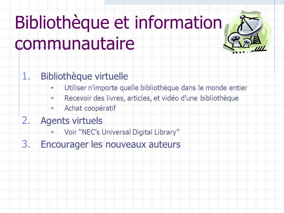 Bibliothèque et information communautaire 1.