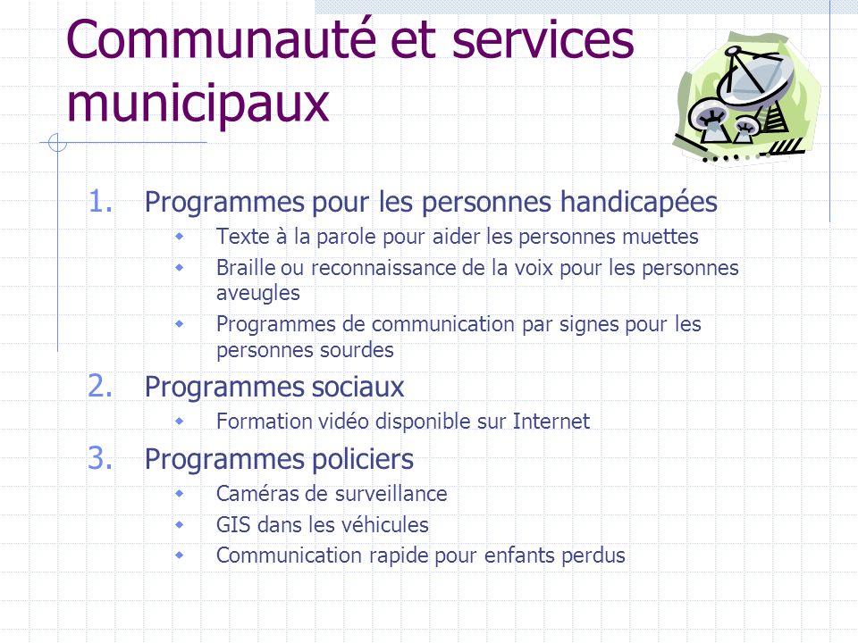 Communauté et services municipaux 1.