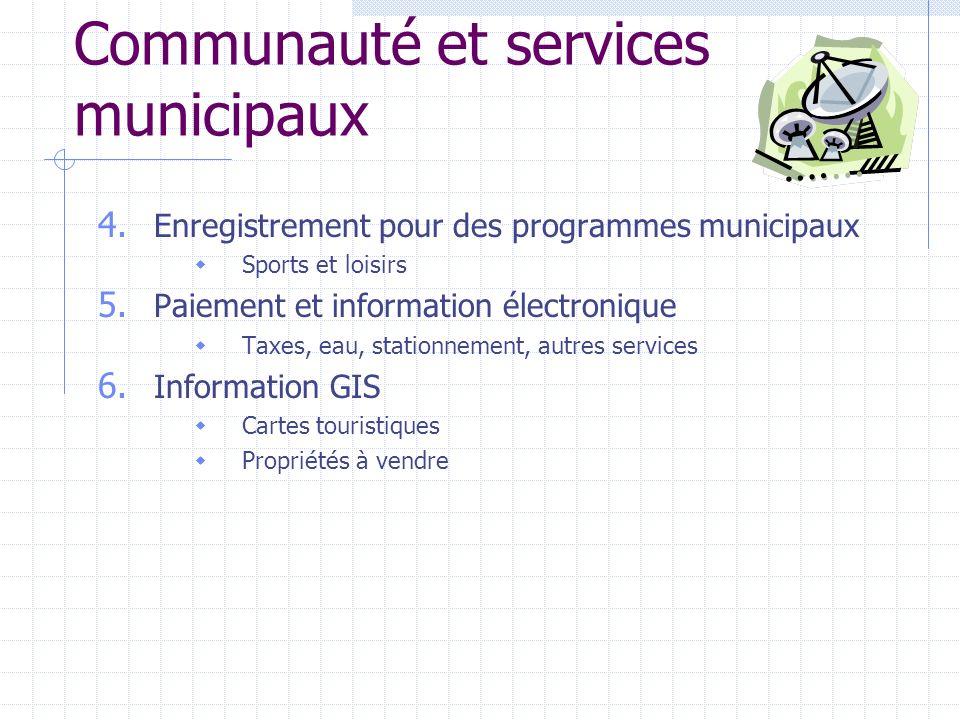 Communauté et services municipaux 4.