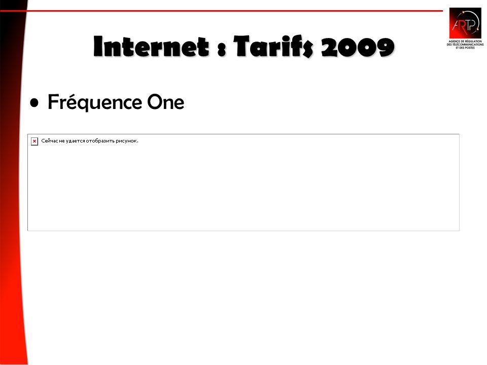 Internet : Tarifs 2009 Fréquence One