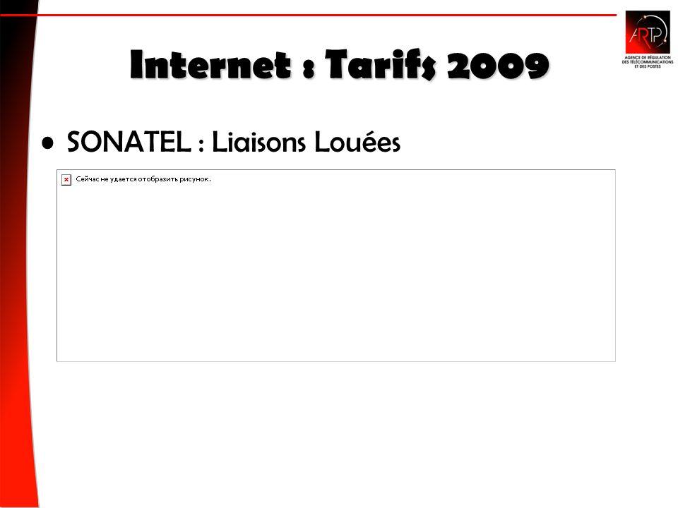 Internet : Tarifs 2009 SONATEL : Liaisons Louées