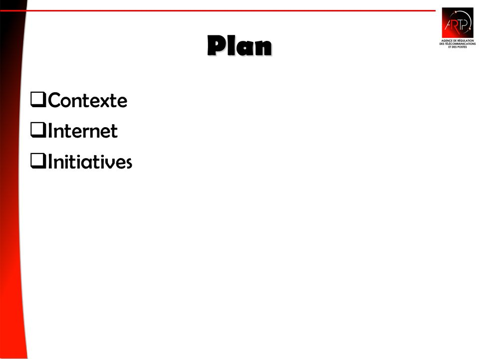 Plan Contexte Contexte Internet Initiatives