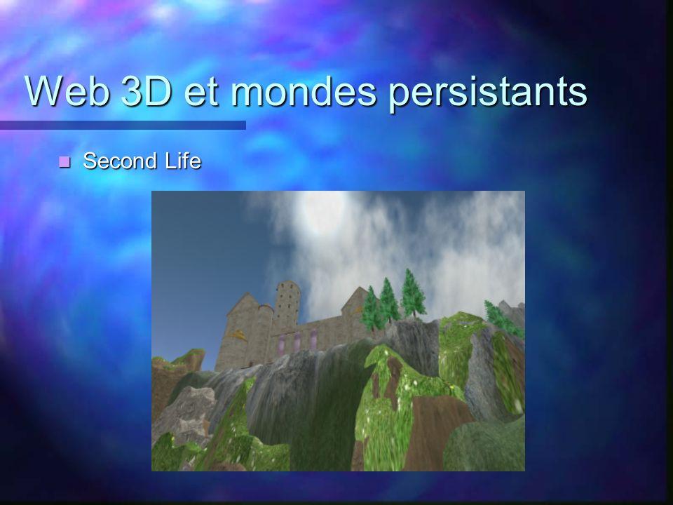 Web 3D et mondes persistants Second Life Second Life