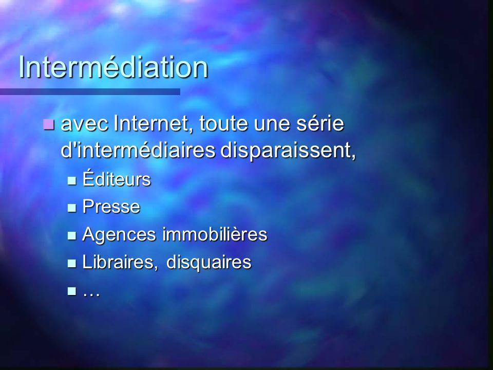 Intermédiation avec Internet, toute une série d'intermédiaires disparaissent, avec Internet, toute une série d'intermédiaires disparaissent, Éditeurs