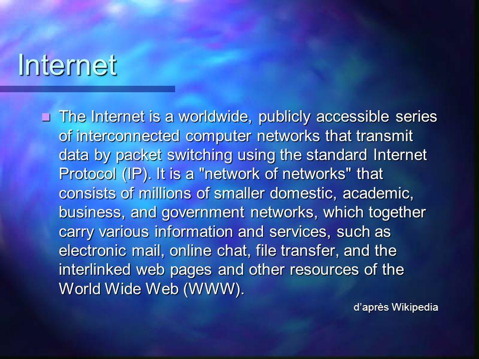 Internet des objets Les objets sont aussi connectés à Internet Les objets sont aussi connectés à Internet