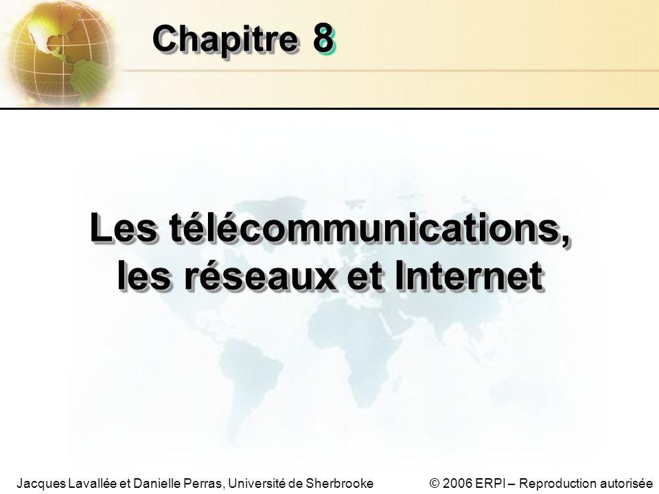 © 2006 ERPI – Reproduction autoriséeJacques Lavallée et Danielle Perras, Université de Sherbrooke 88 ChapitreChapitre Les télécommunications, les réseaux et Internet