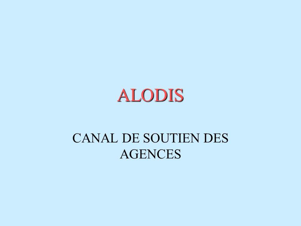 ALODIS CANAL DE SOUTIEN DES AGENCES