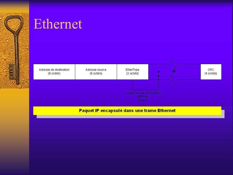 Problématique Le protocole IP prévoit que lexpéditeur ou le routeur découpe les paquets de trop grande longueur en fragments qui sont alors rassemblés par les signataires.