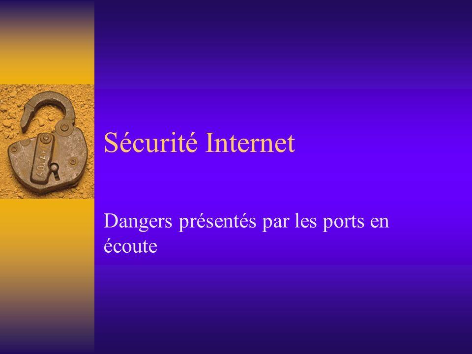 Sécurité Internet Dangers présentés par les ports en écoute