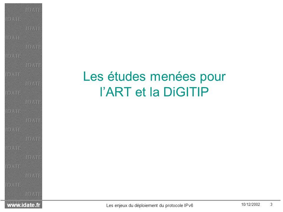 www.idate.fr 10/12/2002 24 Les enjeux du déploiement du protocole IPv6 Zones géographiques
