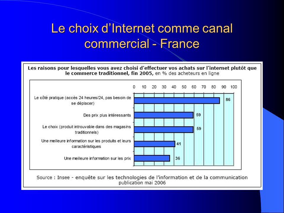 Le choix dInternet comme canal commercial - France