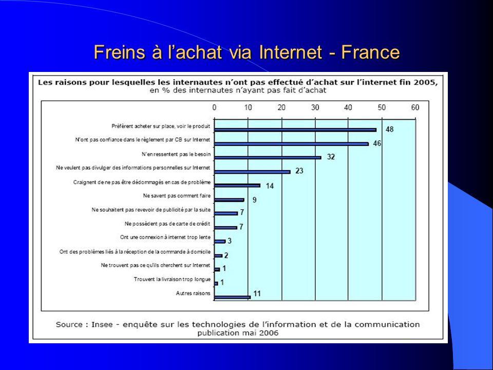 Freins à lachat via Internet - France
