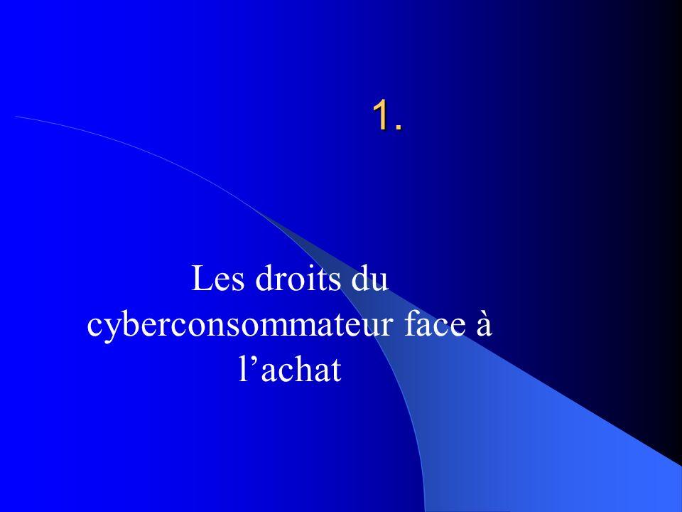 1. Les droits du cyberconsommateur face à lachat