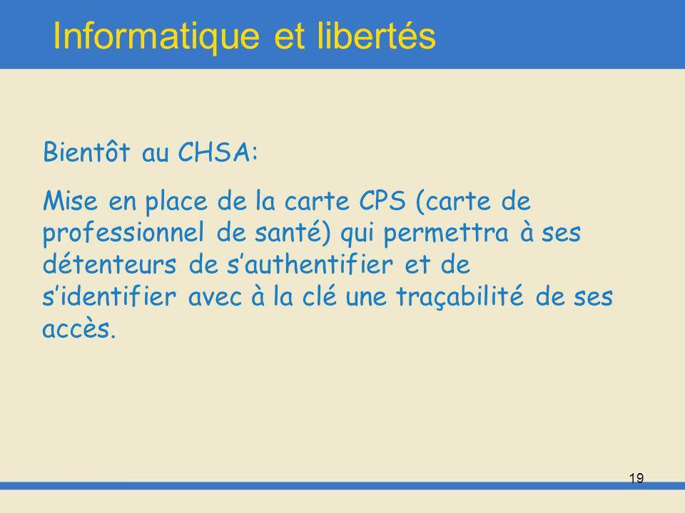 20 Charte CHSA 1.2 Règlement concernant le bon usage des systèmes informatiques et services réseau du CHSA Document de 2007 (en cours dactualisation)