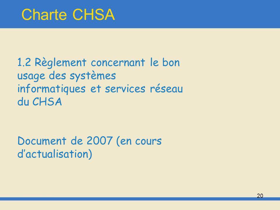 21 Charte CHSA Rappel de la charte du patient hospitalisé: