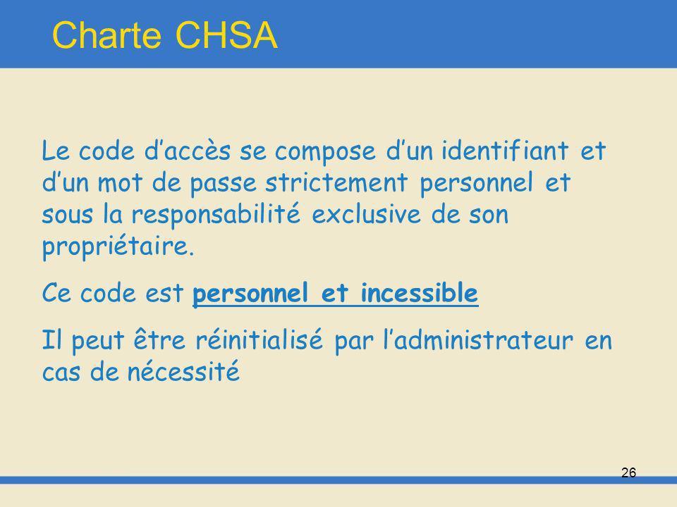 27 Charte CHSA Moyens matériels: -Serveurs -Stations de travail -Micro-ordinateurs -Automates de laboratoire -Modalités de radiologie -Equipements biomédicaux connectés au réseau