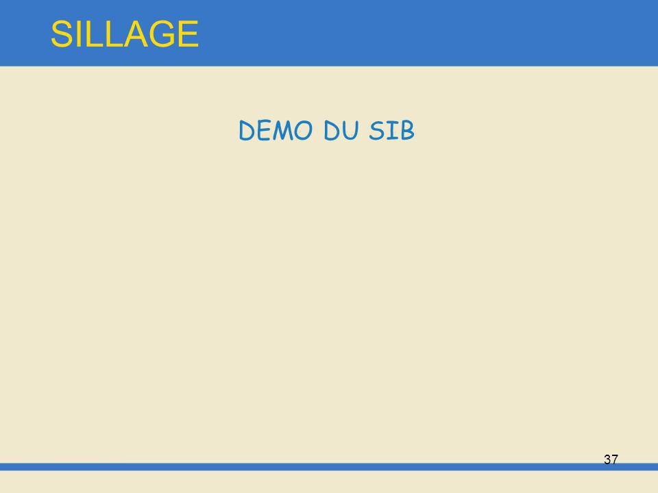 37 SILLAGE DEMO DU SIB